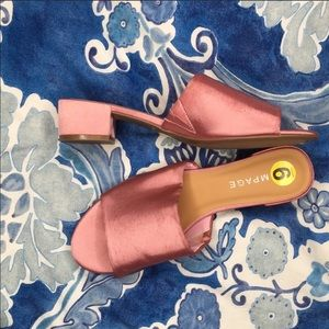 rampage sayda pink sandal mule size 9 NWOB